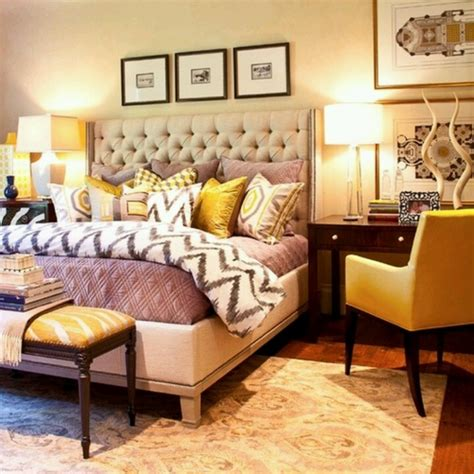 Yellow And Grey Master Bedroom by Yellow Grey Bedroom But With Coral Accents Interior
