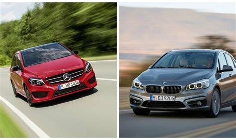 the mercedes b class facelift vs the bmw 2 series active