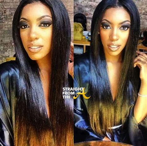 por porsche williams hairline porsha hairline ombre hair coloring rhoa s porsha