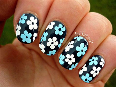imagenes de uñas decoradas simples u 241 as decoradas con flores muy simples u 209 as decoradas