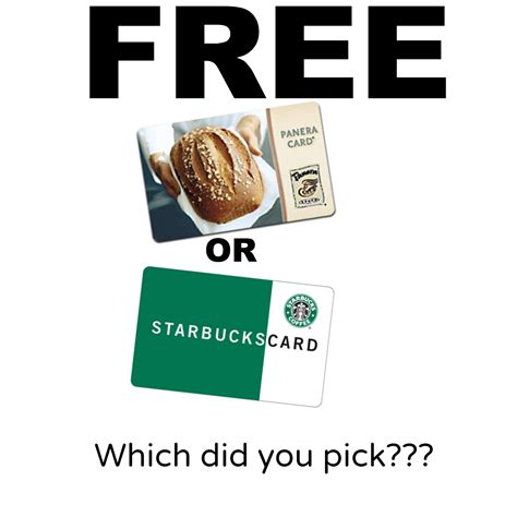 How Do I Send A Starbucks Gift Card On Facebook - hot free 5 starbucks gift card or 5 panera bread gift card