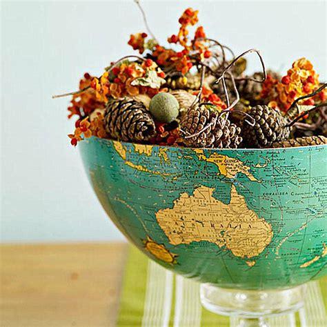 A Globe Centerpiece For Thanksgiving Decoist World Globe Centerpieces