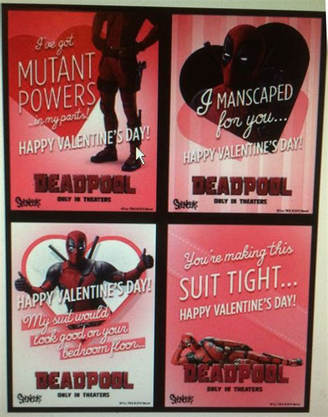 marvel valentines day cards deadpool s day cards at spencers