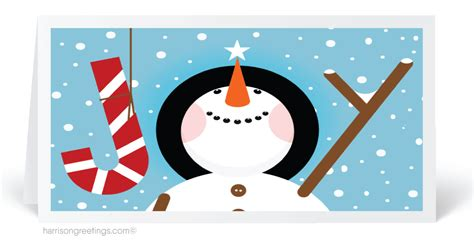 Holiday Gift Card - snowman cartoon christmas holiday cards 6120 harrison greetings business greeting