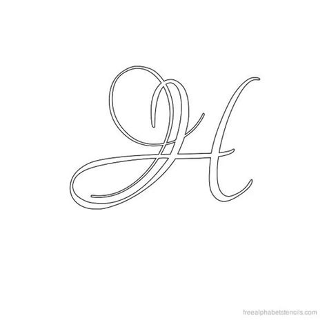 caligraphy template calligraphy alphabet stencil h letter h