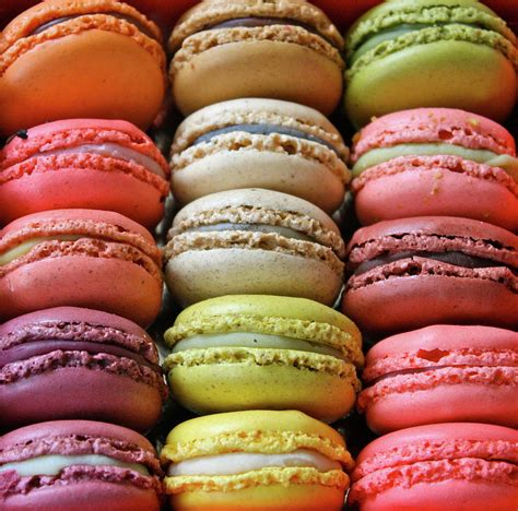 colorful macaroons macaroon delicacies parasol dreams