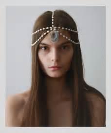 pearl headpiece pearl chain headpiece jewelry