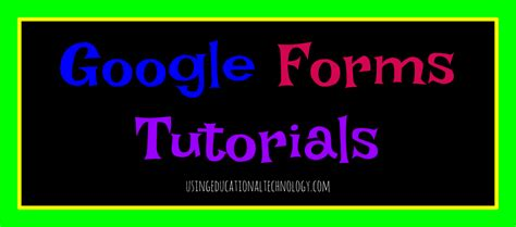 google forms tutorial 2016 quick google forms tutorial teaching with technology