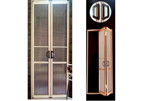 Bifold security screen door