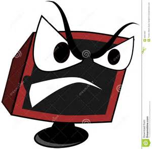 L Desk Modern Isolated Angry Computer Cartoon Stock Illustration Image