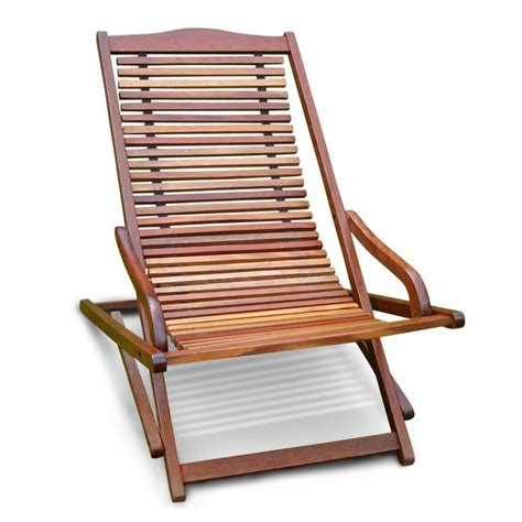 Patio Wood Chairs Shop Vifah Eucalyptus Folding Patio Chaise Lounge Chair At Lowes