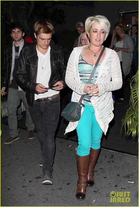 full sized photo of josh hutcherson bowling night with mom