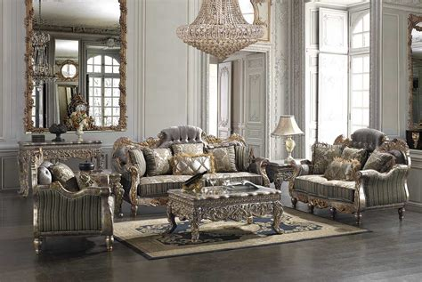 Traditional Chenille Fabric Sofa HD782   Traditional Sofas