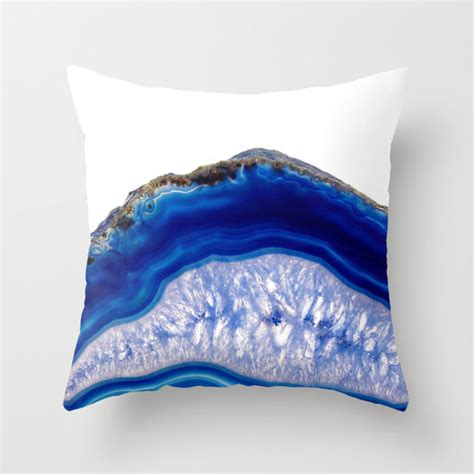 Comfi Pillow Blue 1 blue agate pillow blue agate slice pattern pillow blue