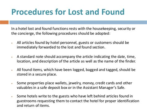 Report Letter For Lost Item Hotel Security 2