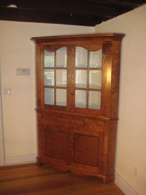 tiger maple corner cabinet  trapshter  lumberjocks