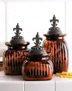 stainless steel fleur de lis finials canister set kitchen 1000 images about kitchen canisters on pinterest