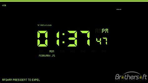 wallpaper clock windows 10 wallpapersafari