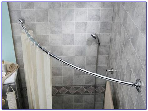corner tub shower curtain rod corner shower curtain rod brushed nickel bathroom corner
