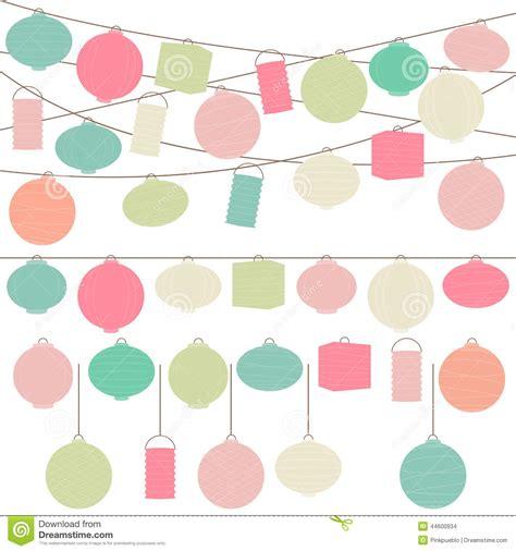 Vector Set Of Pastellored Holiday  Ee  Paper Ee    Ee  Lanterns Ee