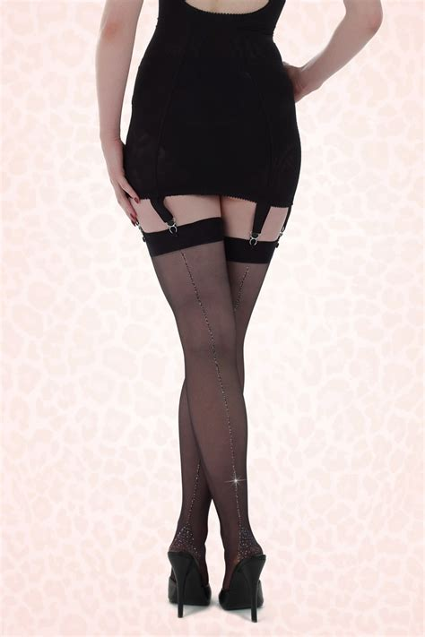 Retro Tights retro vintage seamed 1930s 1940s 1950s style