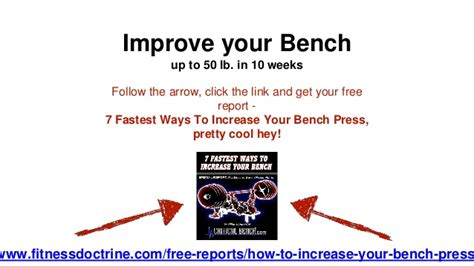 improve your bench best exercise to improve your bench press