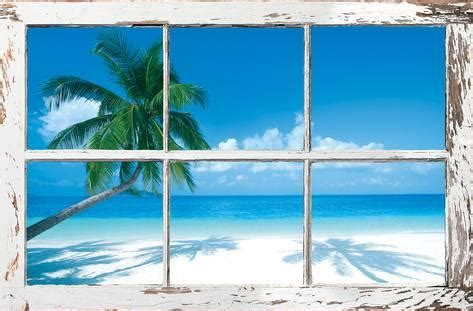 Tropical Wall Murals tropical beach window poster at allposters com