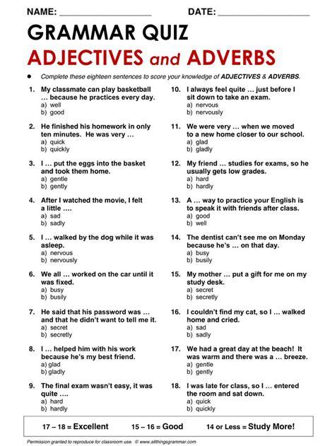 English Grammar Themes | best 25 adjective quiz ideas on pinterest espanol to