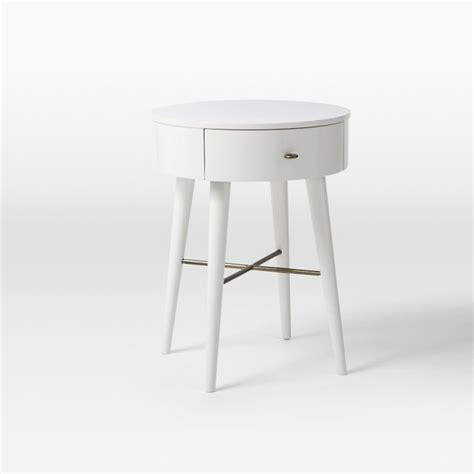 Small Nightstand Table Penelope Nightstand White Small Contemporary Nightstands And Bedside Tables By West Elm