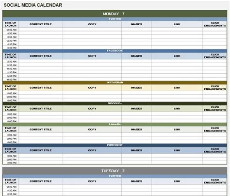 Media Timeline Template 12 Free Social Media Templates Smartsheet Shania Design Social Media Management Template