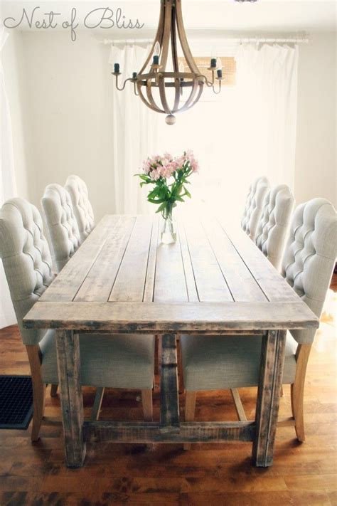 Farmhouse Dining Room Table Sets 25 Best Ideas About Rustic Dining Tables On Pinterest Formal Dining Tables Rustic Dining