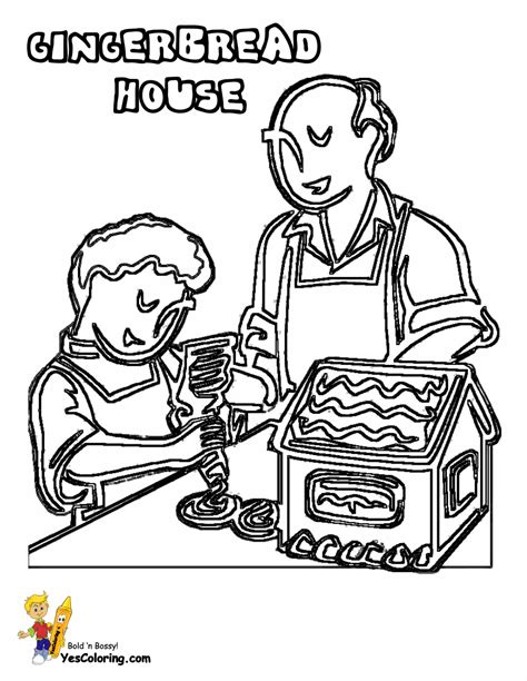 coloring pages gingerbread family wonderful christmas coloring sheets christmas day free