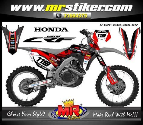 crf 150 l halftone stiker motor striping motor suka suka decal motor mr stiker