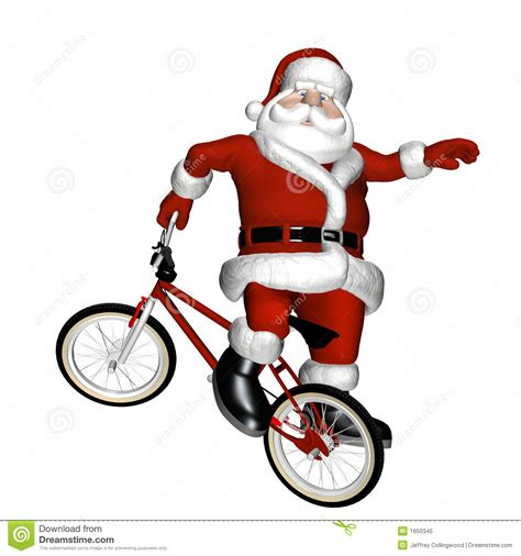 bmx santa 1 royalty free stock photo image 1650345