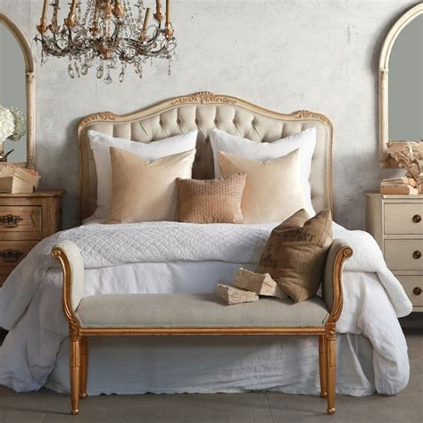 gold headboard eloquence sophia upholstered tufted two tone gold