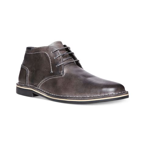 mens grey chukka boots steve madden harken chukka boots in gray for grey lyst