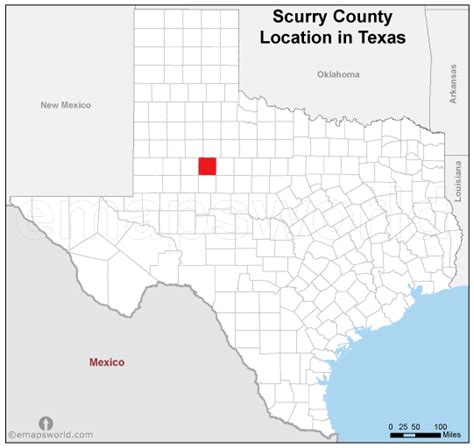 scurry texas map scurry county location map texas emapsworld