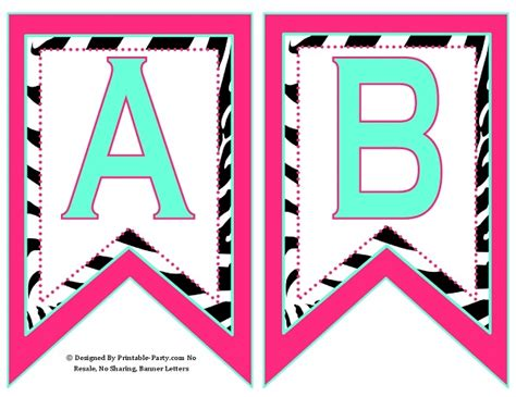 free printable zebra birthday banner small swallowtail printable banner letters a z numbers 0