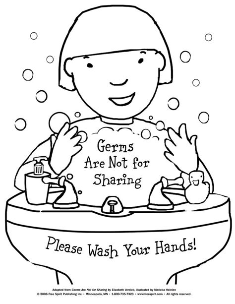 coloring pages personal hygiene free printable coloring page to teach kids about hygiene