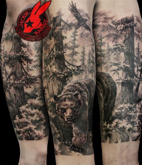 forest scene tattoo 310 best tattoos by jackie rabbit images on