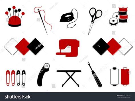Patchwork Tools - vector quilt patchwork tools for diy crafts hobbies