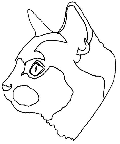 free cat face coloring pages