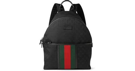 Gucci Backpack 2 Saku Ys2270 gucci leather trimmed canvas backpack in black for lyst