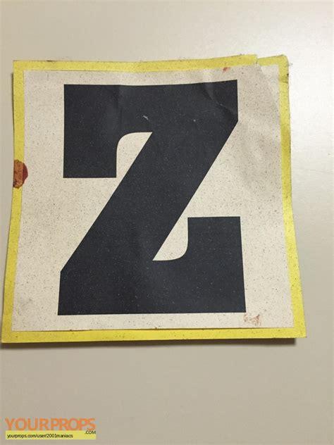 Letter Zee Originals Saw Iii Bloody Letter Quot Z Quot Original Set Dressing