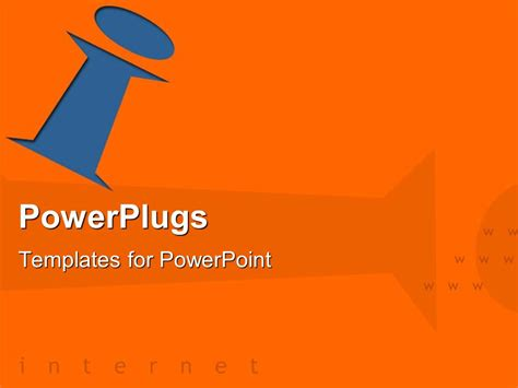 powerplugs templates for powerpoint download powerpoint template orange background with blue letter i
