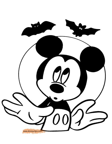 halloween coloring pages mickey disney halloween coloring pages 3 disneyclips com