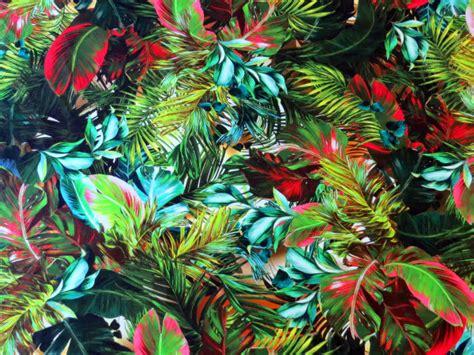 S4 Satin Motif 2 tropical printed viscose elastane jersey fabric
