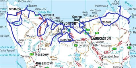 printable road map of tasmania map of northern tasmania my blog