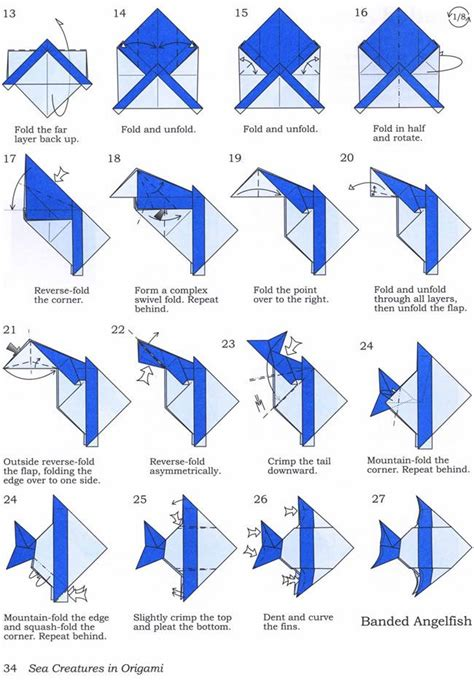 Origami Fish Tutorial - banded fish pt 2 lessons