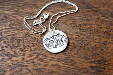 mountain top necklace mountain necklace sterling silver etsy